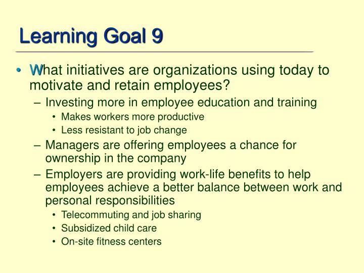 Learning Goal 9