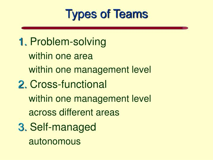 Types of Teams