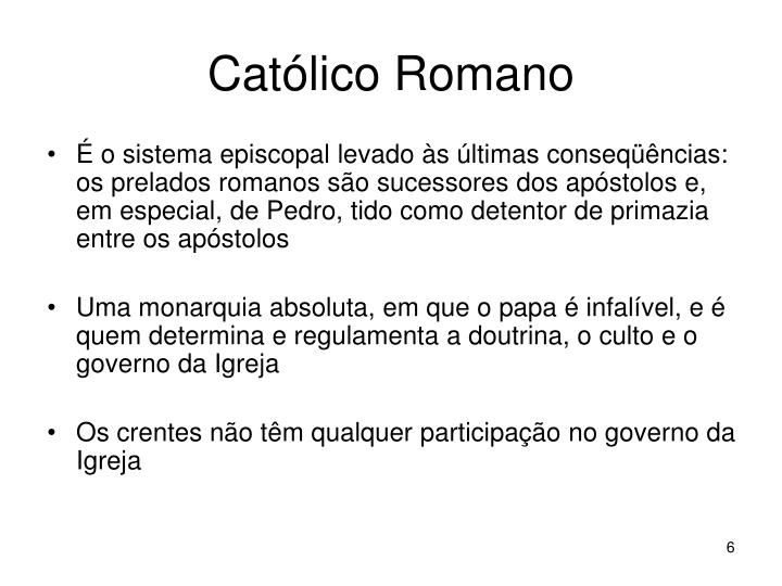 Católico Romano