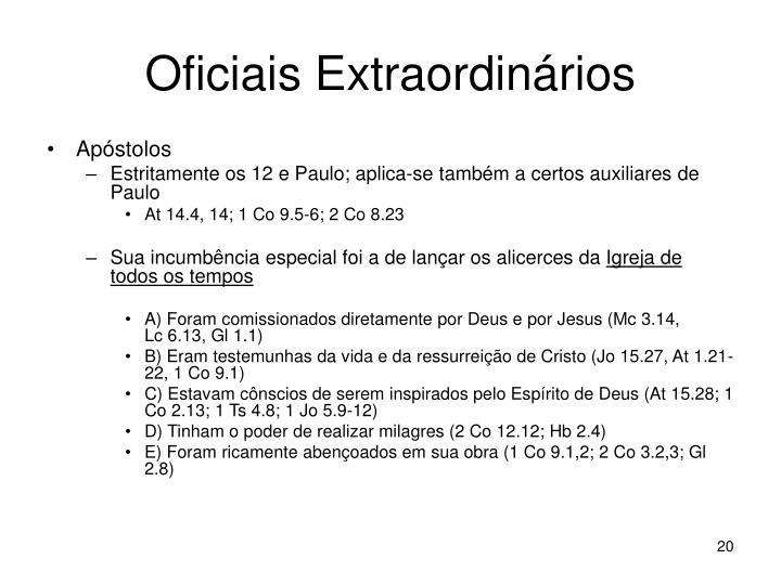 Oficiais Extraordinários