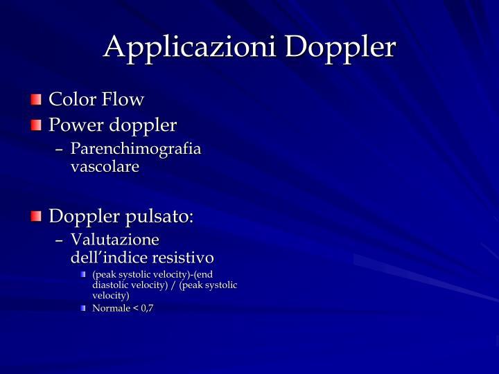 Applicazioni Doppler