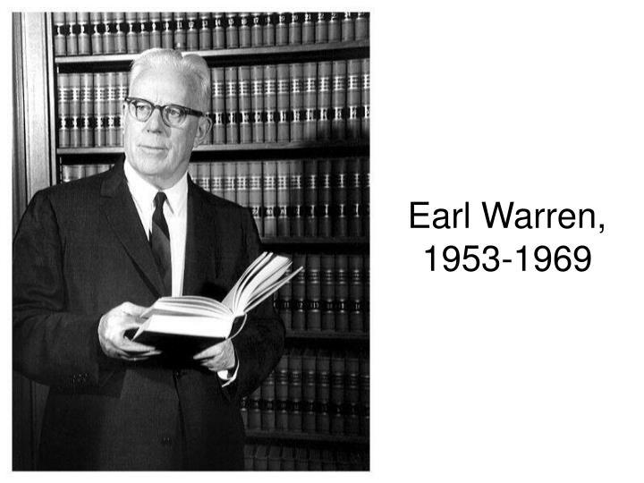 Earl Warren, 1953-1969
