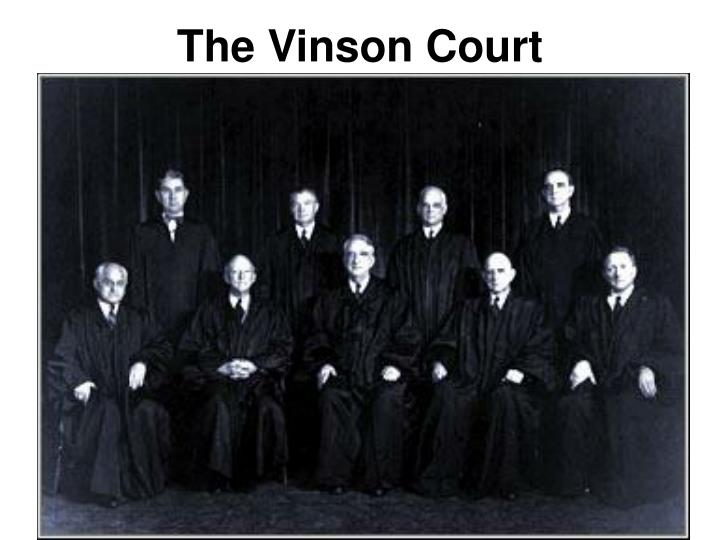 The Vinson Court