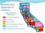 biosolids land application in california