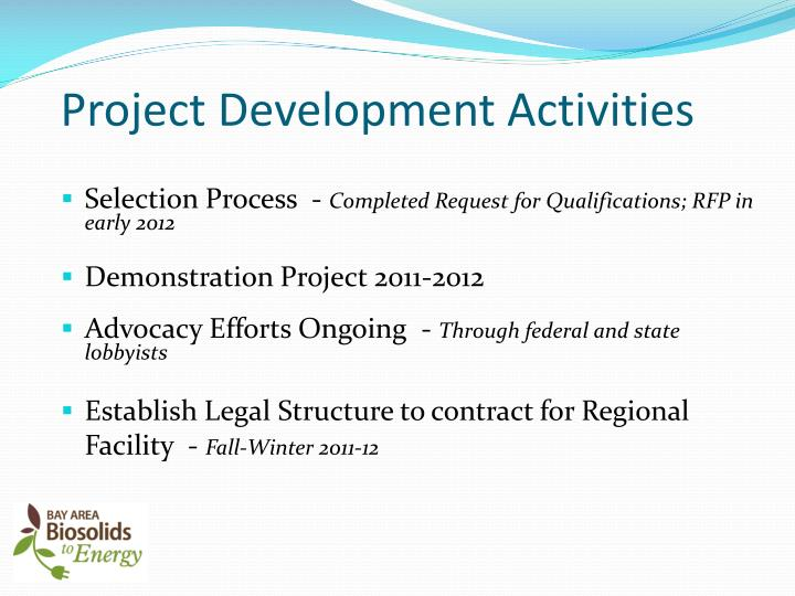 Project Development Activities