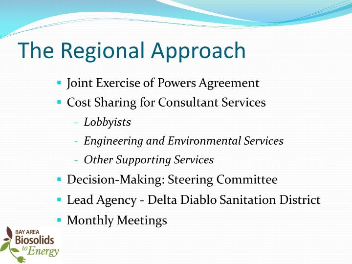 The Regional Approach