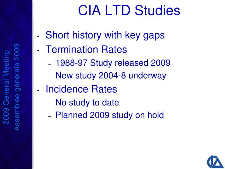 CIA LTD Studies