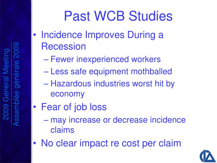 Past WCB Studies