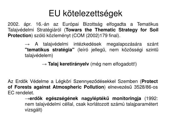 EU kötelezettségek