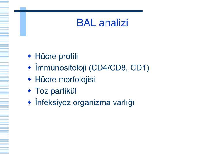 BAL analizi