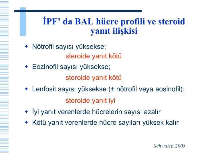İPF' da BAL hücre profili ve steroid yanıt ilişkisi