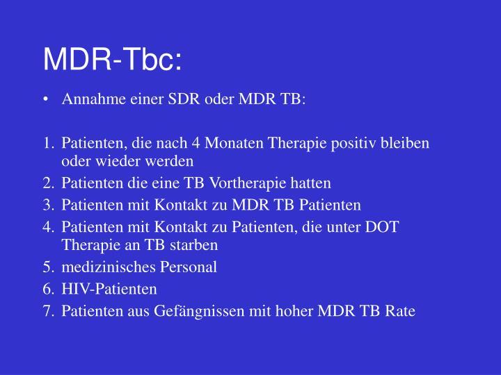 MDR-Tbc: