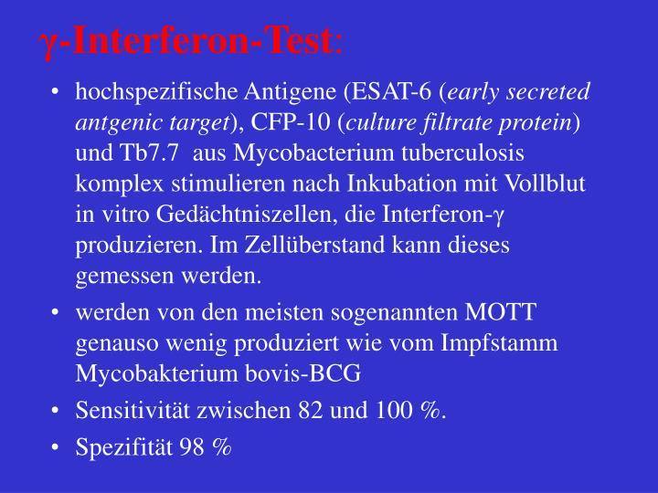 γ-Interferon-Test