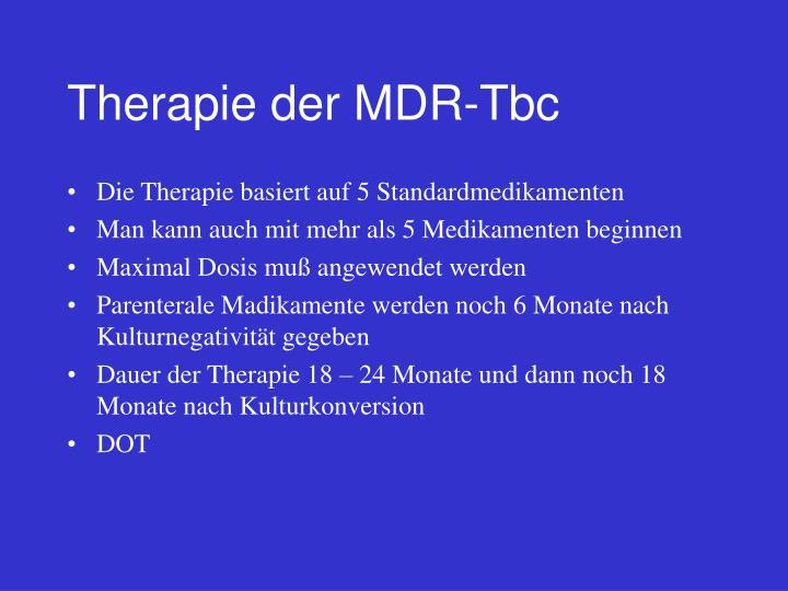 Therapie der MDR-Tbc