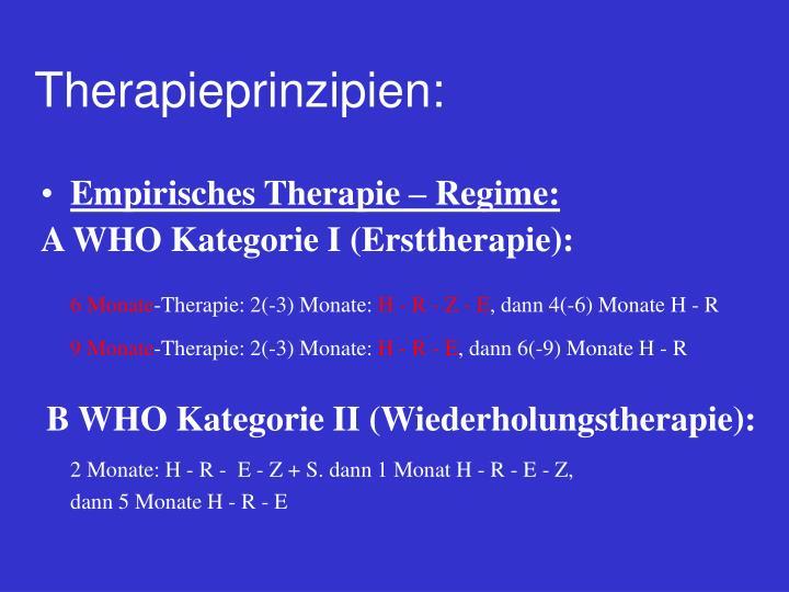 Therapieprinzipien: