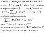 conjugate quadrature filter