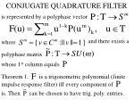 conjugate quadrature filter1