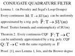 conjugate quadrature filter2
