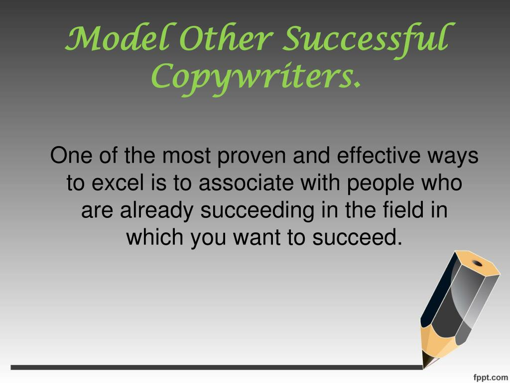 Model Other Successful Copywriters.