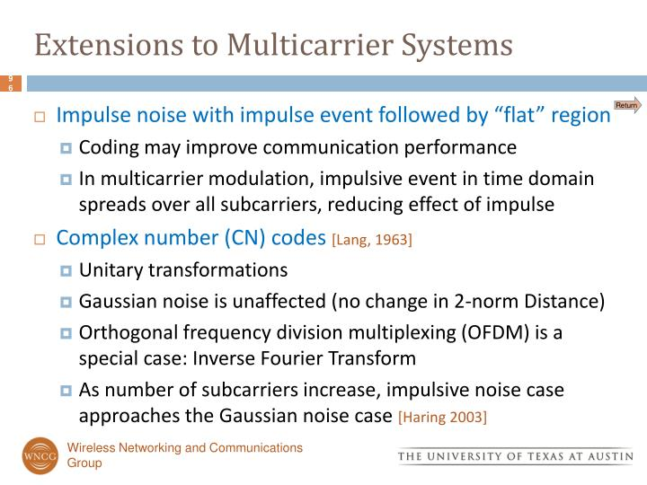 Extensions to Multicarrier Systems