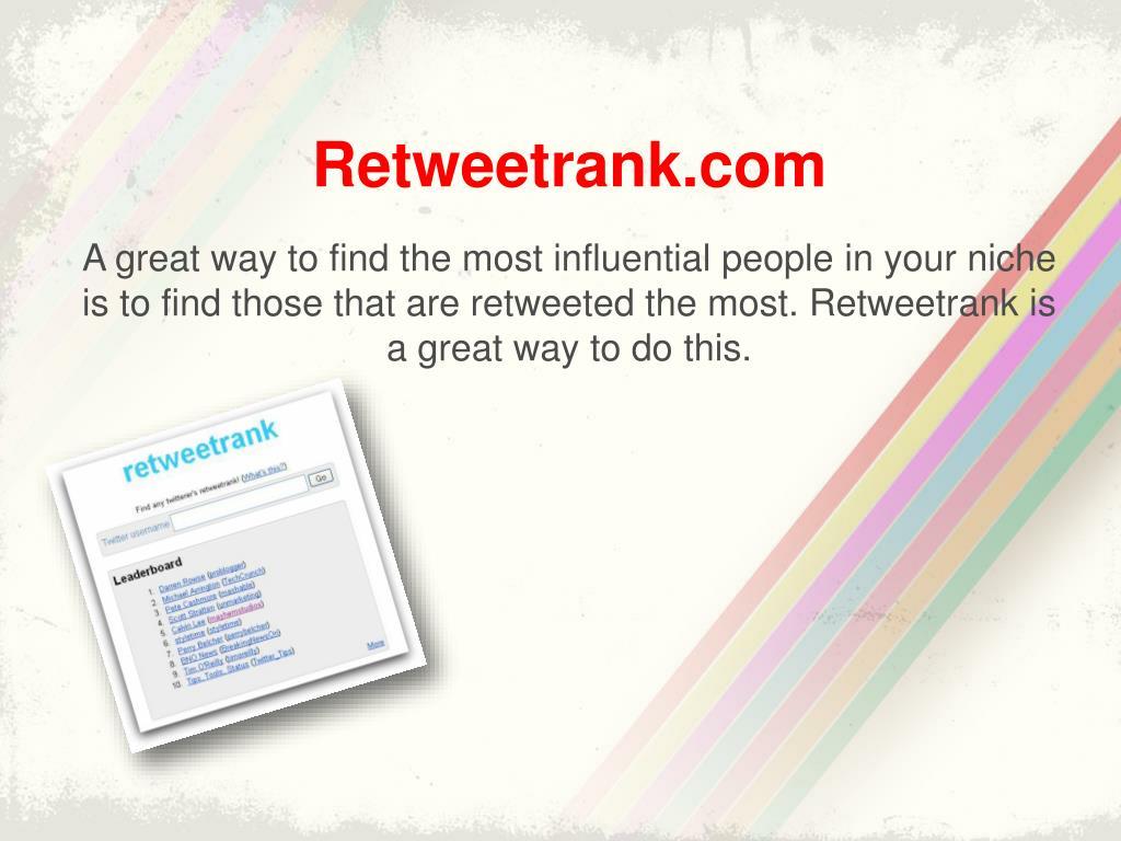 Retweetrank.com