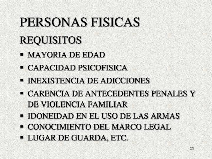 PERSONAS FISICAS