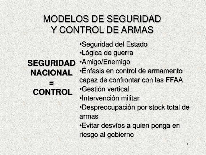 MODELOS DE SEGURIDAD