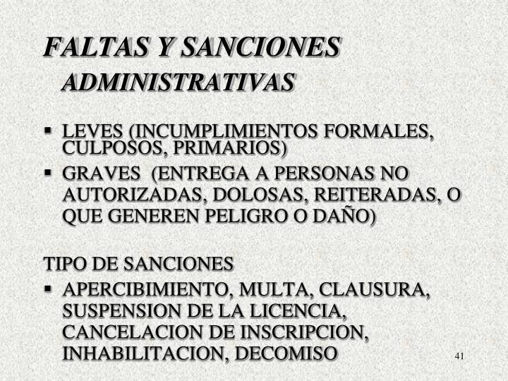 FALTAS Y SANCIONES