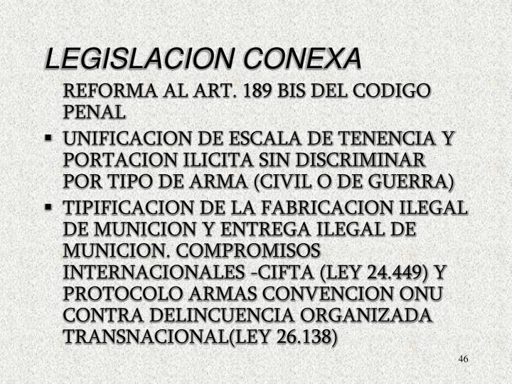 LEGISLACION CONEXA