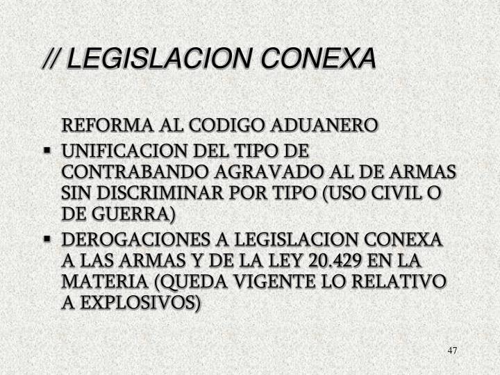 // LEGISLACION CONEXA
