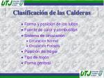 clasificaci n de las calderas1