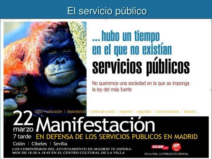 El servicio público