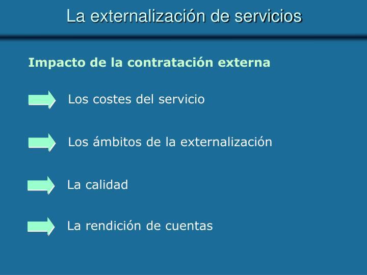 Los costes del servicio