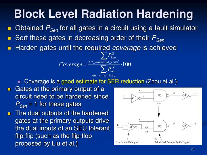 Block Level Radiation Hardening