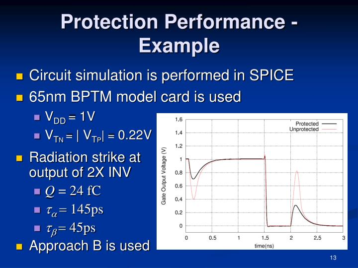 Protection Performance - Example