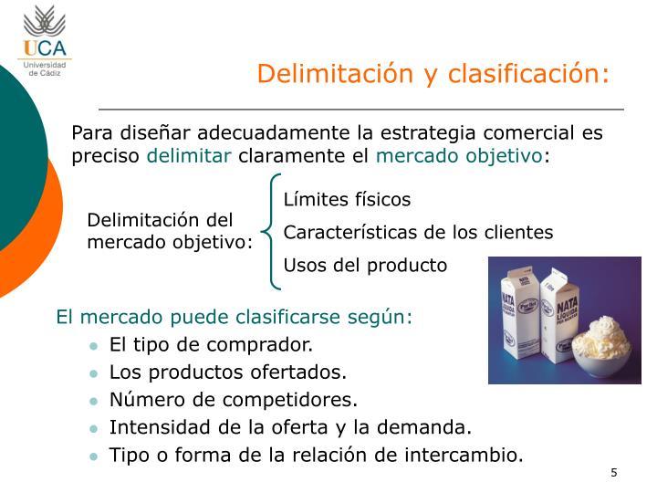 Delimitación y clasificación: