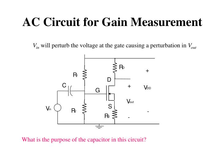 AC Circuit for Gain Measurement