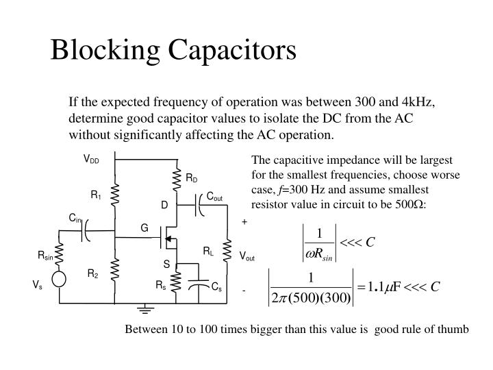 Blocking Capacitors