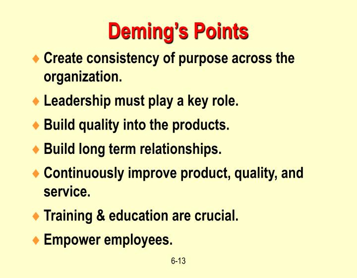 Deming's Points