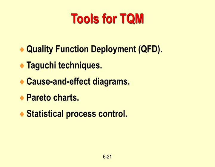 Tools for TQM