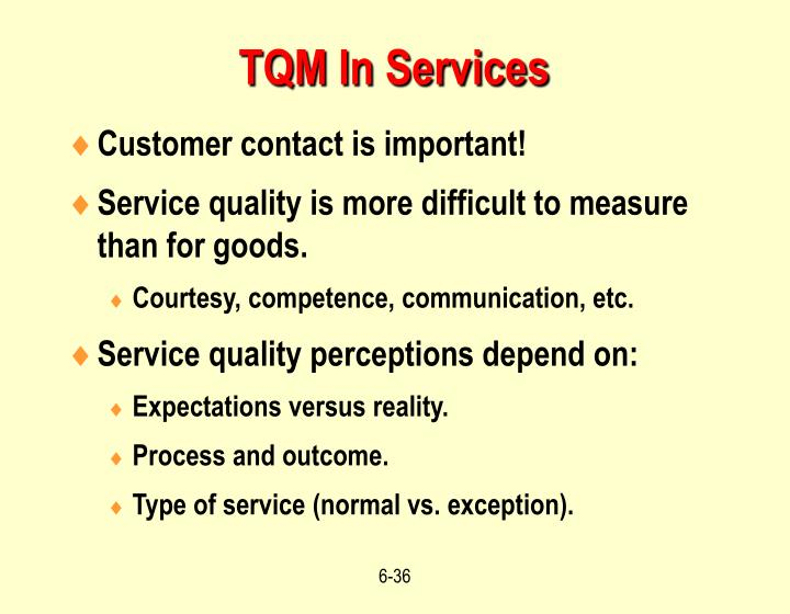 TQM In Services