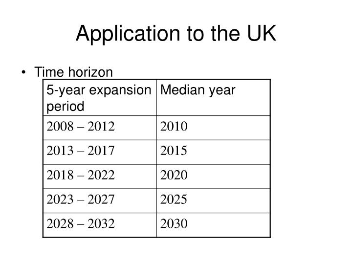 Application to the UK