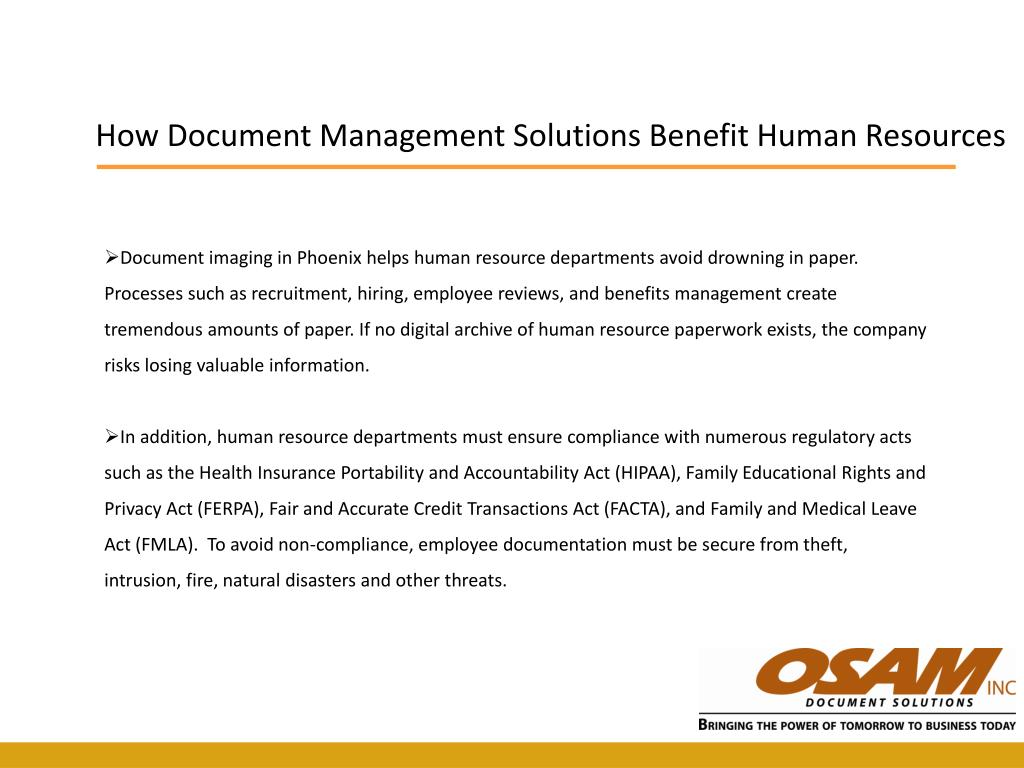 How Document Management Solutions Benefit Human Resources