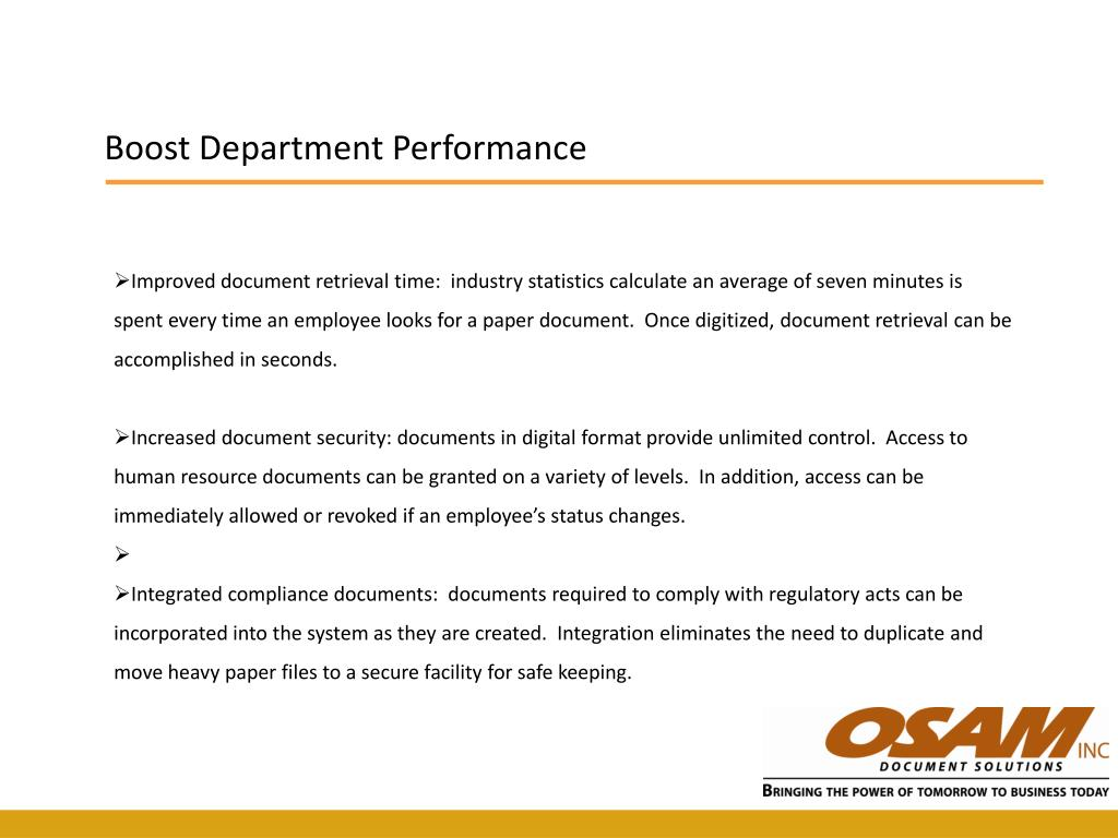 Boost Department Performance
