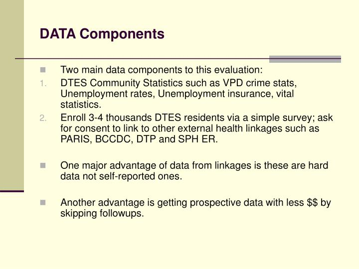Data components
