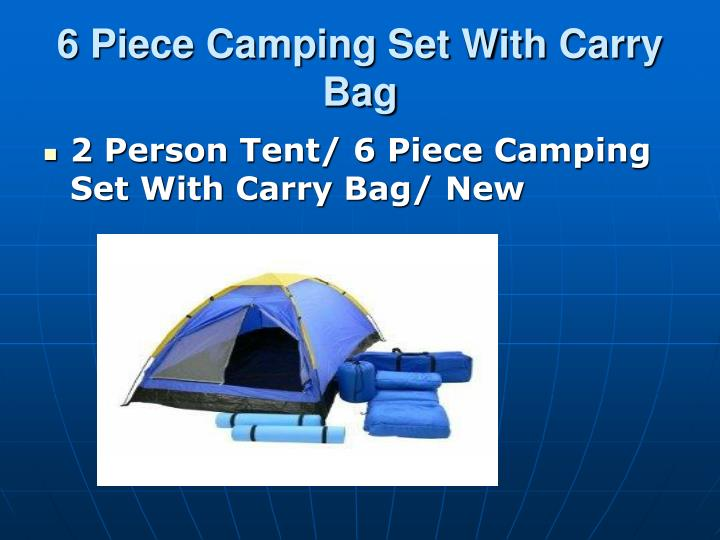 6 piece camping set with carry bag