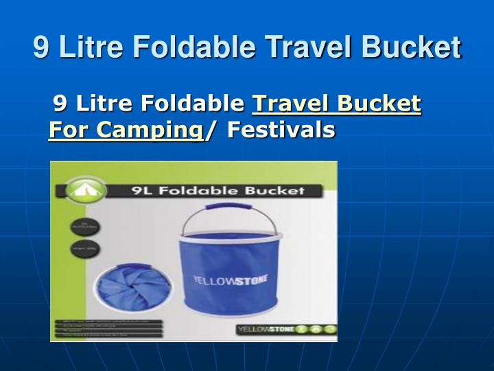 9 Litre Foldable Travel Bucket