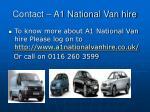 contact a1 national van hire