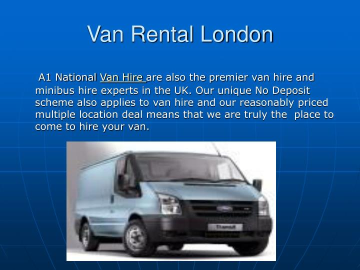Van Rental London