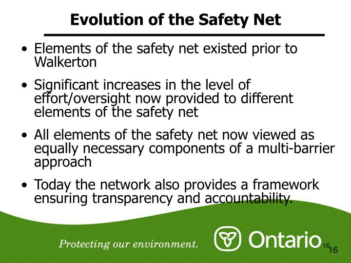 Evolution of the Safety Net